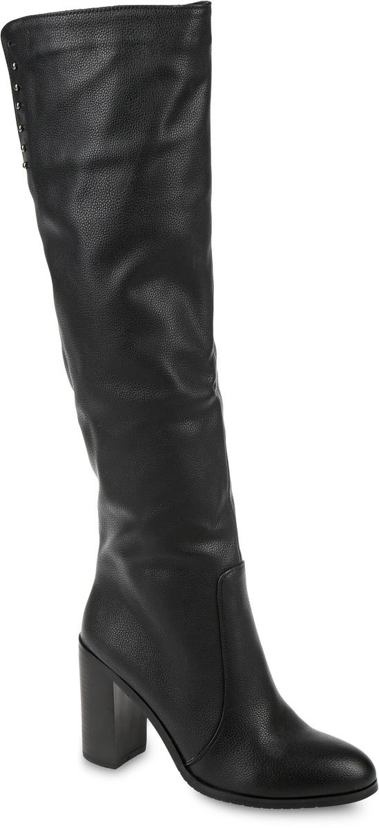 SP-BA0203-2Сапоги выполнены из искусственной кожи. Подкладка и стелька, изготовленные из мягкой байки, защитят ноги от холода и обеспечат комфорт. Сапоги застегиваются на застежку-молнию, расположенную на одной из боковых сторон. Подошва выполнена из термопластичного материала. Модель оснащена устойчивым каблуком.