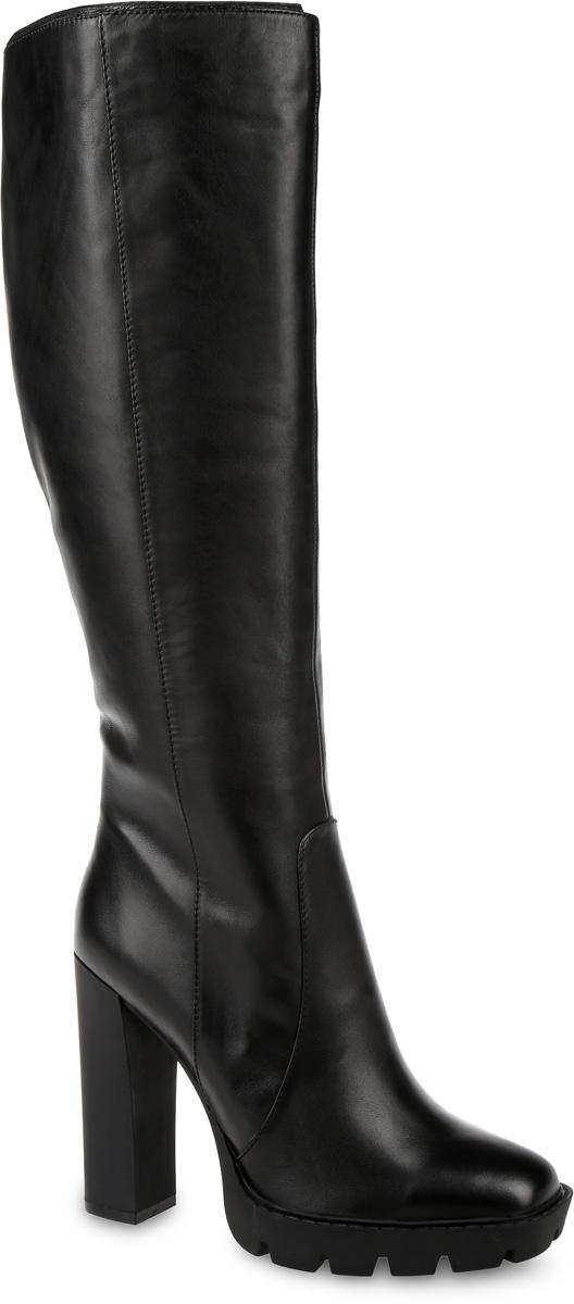 91-131-01-5Стильные женские сапоги от Paolo Conte выполнены из натуральной кожи. Подкладка и стелька выполнены из байки. Застегивается модель на боковую застежку-молнию. Эластичные вставки на голенище обеспечивают идеальную посадку модели на ноге. Ультравысокий каблук компенсирован небольшой платформой. Подошва и каблук дополнены рифлением.
