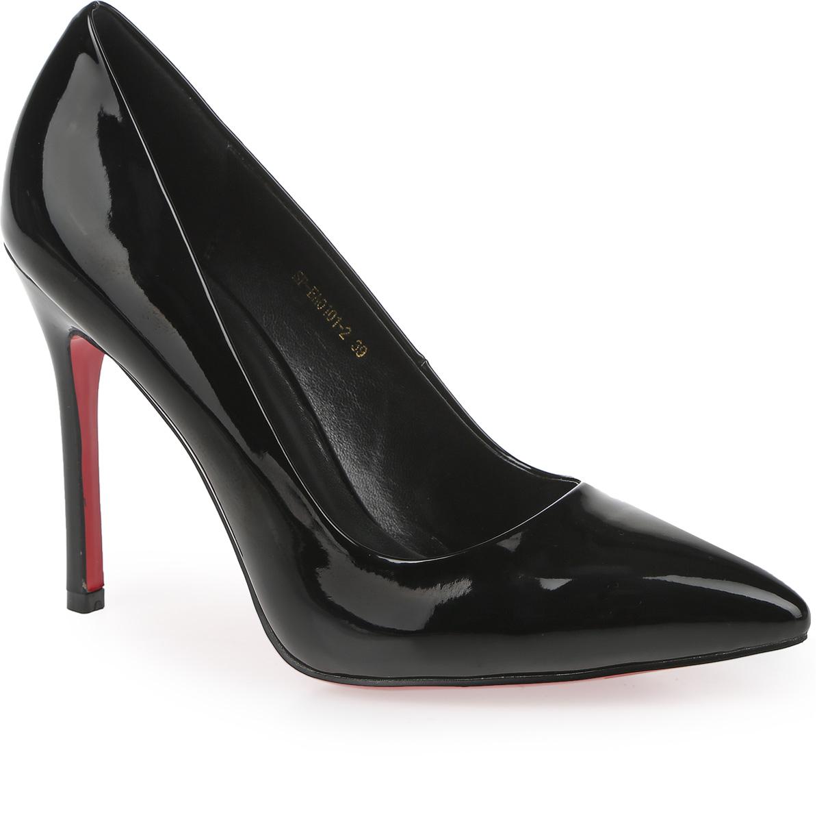 SP-EA0101-2Элегантные туфли выполнены из искусственной лаковой кожи. Стелька выполнена из натуральной кожи, которая обеспечит комфорт при движении и предотвратит натирание. Модель оснащена высоким каблуком шпилькой. Подошва выполнена из термопластичного материала.