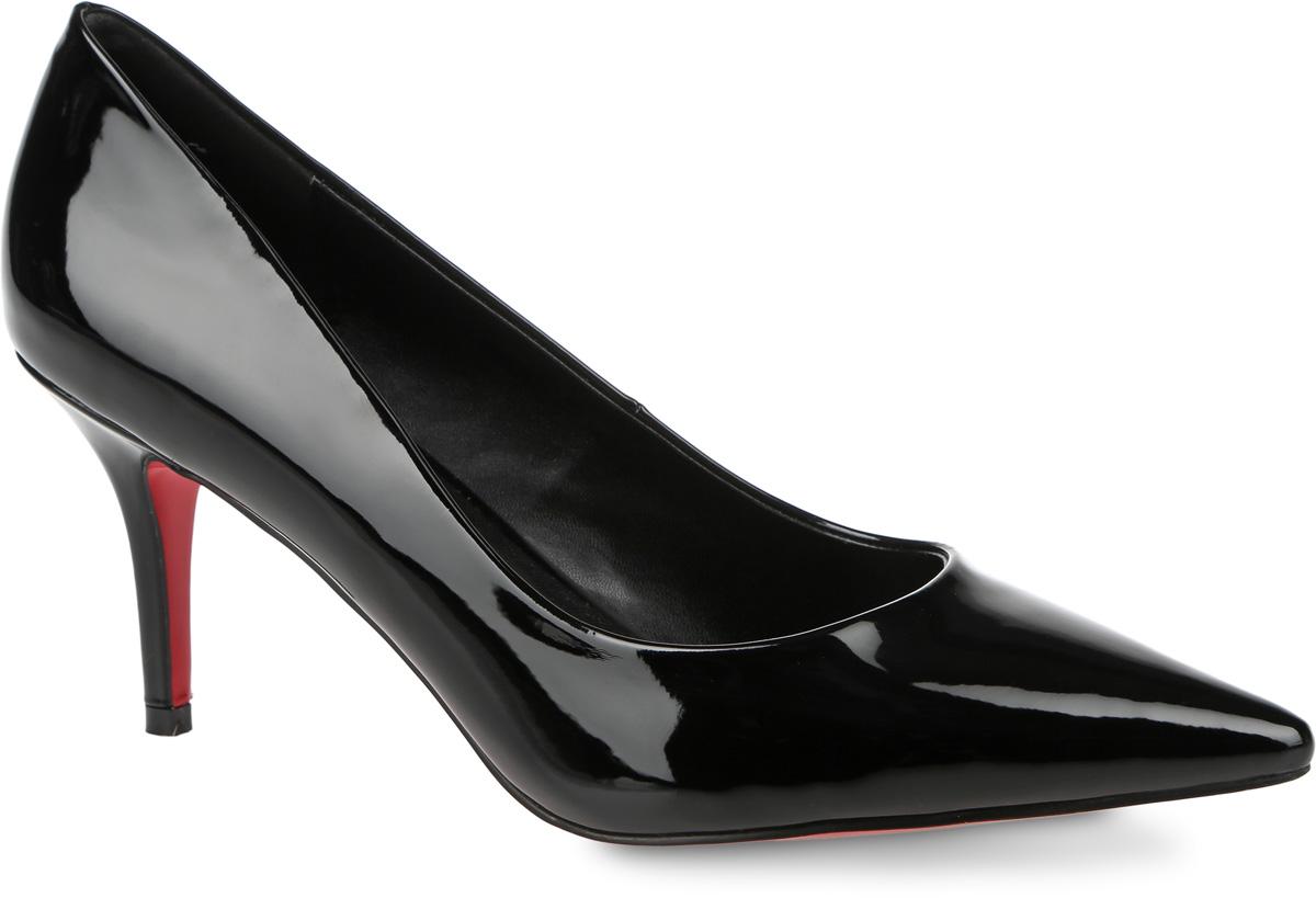 ТуфлиSP-DA0101-2Элегантные туфли выполнены из искусственной лаковой кожи. Стелька выполнена из натуральной кожи, которая обеспечит комфорт при движении и предотвратит натирание. Модель оснащена тоненьким устойчивым каблуком. Подошва выполнена из термопластичного материала.