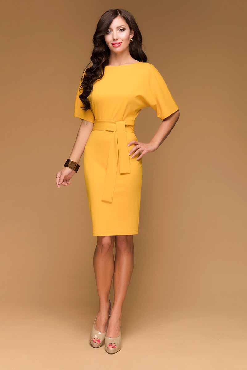 ПлатьеDM00211Платье 1001 Dress фасона летучая мышь в стиле 80-х годов. Выполнено из универсального джерси – очень красиво садится по фигуре, износостойкое, прослужит не один сезон. Одна из любимых моделей наших покупательниц.