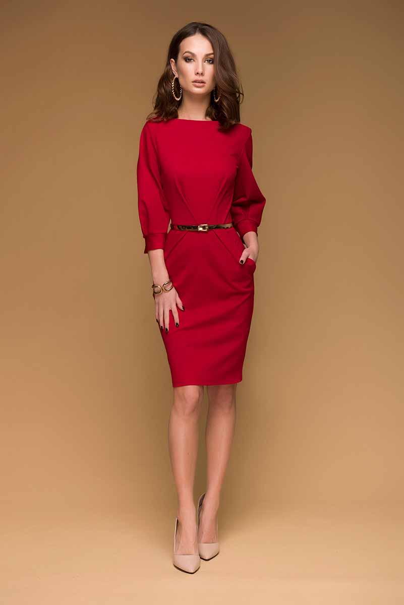 DM00436Платье 1001 Dress из трикотажа должно быть в гардеробе каждой девушки. Оно прекрасно садится по фигуре, подчеркивая все достоинства силуэта, и универсально в носке. А насыщенный цвет сделает ваш образ ярче и привлекательнее.