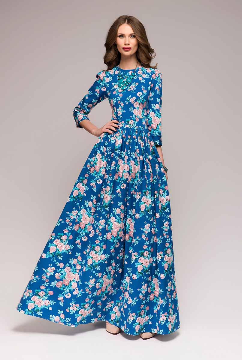 DM00505Платье 1001 Dress с крупным контрастным цветочным принтом - актуальная модель, выполненная из натуральной ткани, позволяющей коже дышать. Как раз то, что нужно в теплую погоду, чтобы выглядеть и чувствовать себя непревзойденно.
