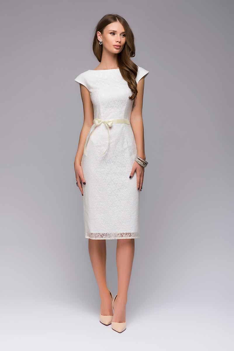 ПлатьеDM00547Изысканный силуэт, качественное кружево. В платье-футляре от 1001 Dress ваш образ будет аристократичным и утонченным. Прекрасным, но не вычурным. Образ, достойный леди.