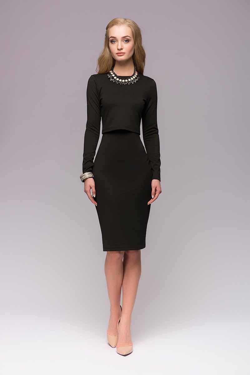 Комплект одеждыDM00666Оригинальный комплект 1001 Dress, состоящий из платья на тонких бретелях и кроп-топа - отличный выбор на каждый день. Комфортный, лаконичный, стильный. Платье можно носить как с топом, так и без него. А разнообразить образ вам с легкостью удастся при помощи аксессуаров.