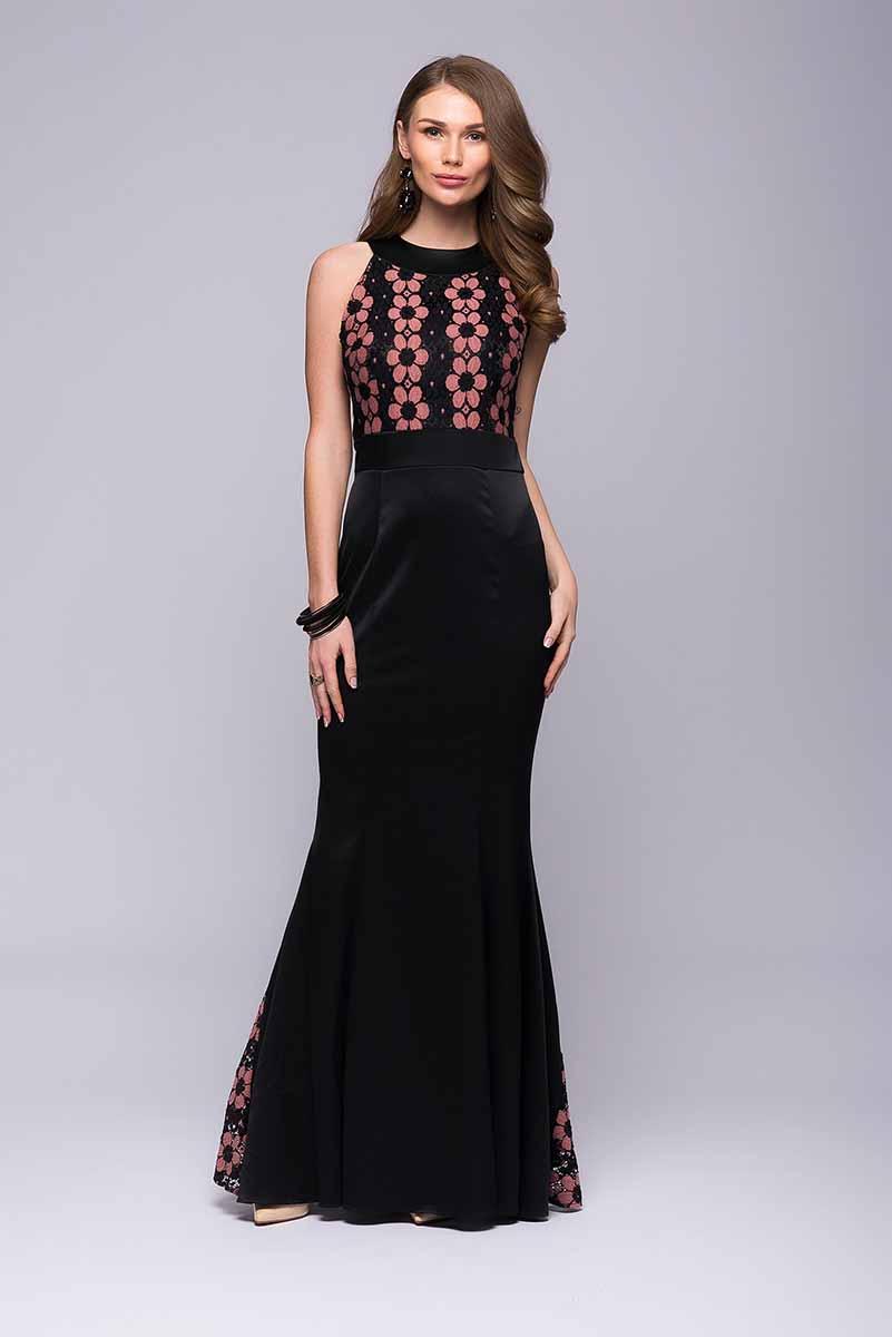 DM00718Потрясающее вечернее платье 1001 Dress, которое подчеркнет вашу женственность и чувство вкуса. Классический покрой дополнен оригинальной кружевной отделкой на лифе и юбке платья. Элегантное и интересное. Идеально для торжества.