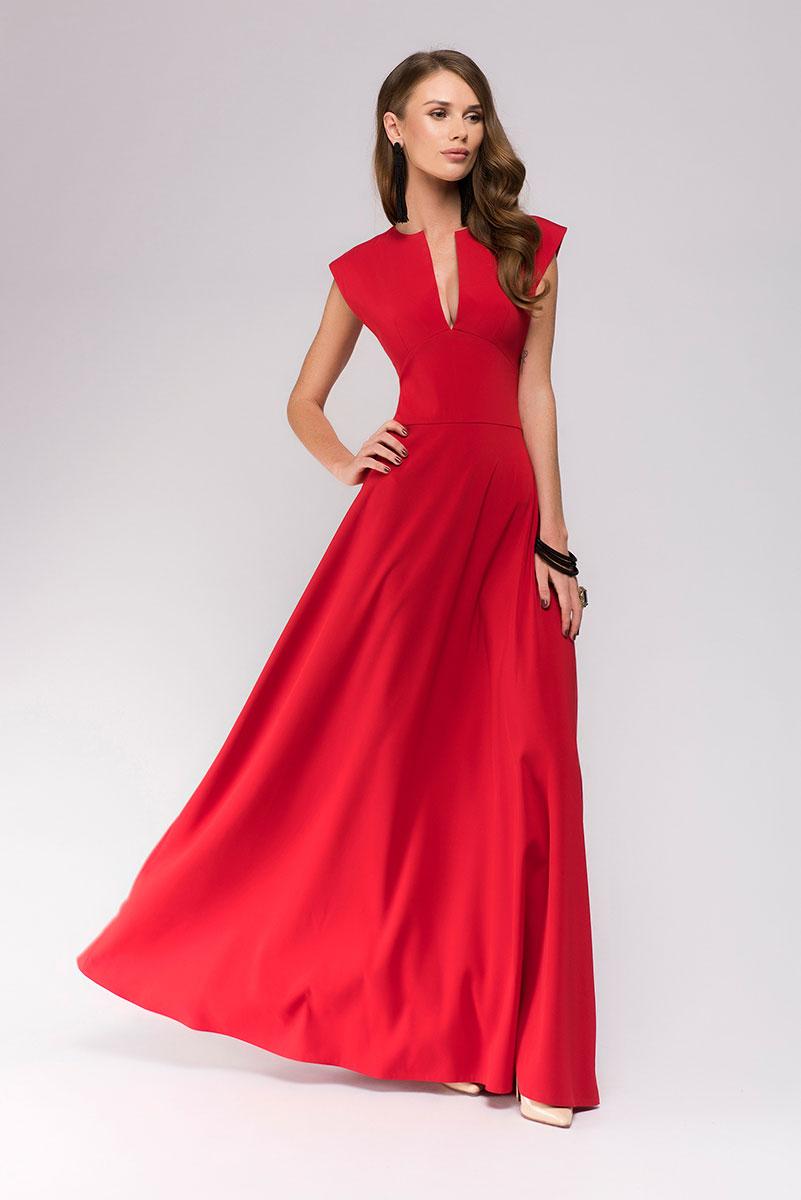 ПлатьеDM00697Потрясающее вечернее платье 1001 Dress из новой коллекции. Идеальный вариант для торжественного вечера, когда нужно выглядеть превосходно. Приталенный силуэт, расклешенная юбка, пикантное глубокое декольте. Добавьте аксессуары и королевский образ готов!