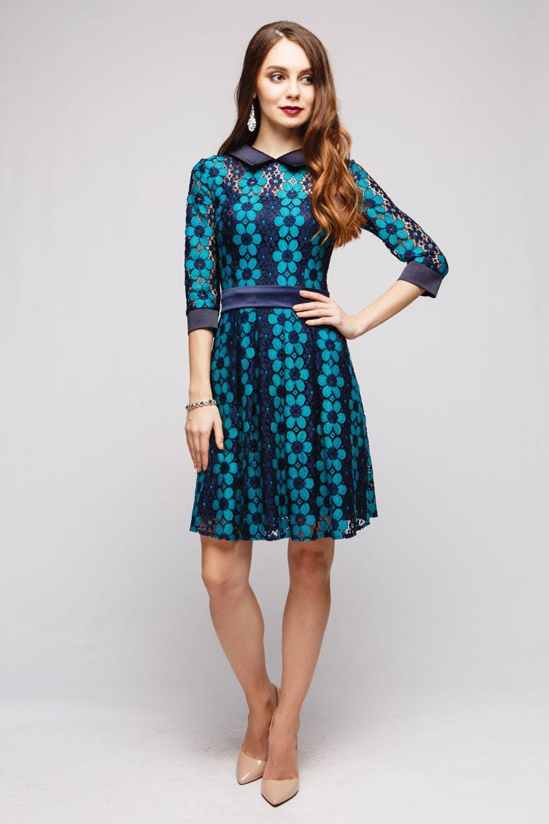 ПлатьеDM00717Стильное повседневное платье 1001 Dress с кружевной отделкой. Идеально садится по фигуре, подчеркивая достоинства и скрывая недостатки.