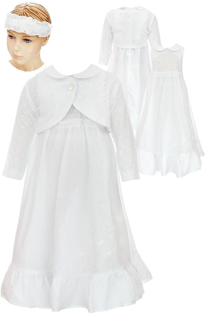 Комплект одеждыКП69-313Комплект для девочки БЕМБІ - это замечательный подарок, который прекрасно подойдет для вашей малышки. Комплект состоит из платья, болеро и повязки на голову. Изготовленный из натурального хлопка, он необычайно мягкий и приятный на ощупь, не сковывает движения малышки и позволяет коже дышать, не раздражает даже самую нежную и чувствительную кожу ребенка, обеспечивая ему наибольший комфорт. Платье с отложным воротничком и без рукавов сзади застегивается на спинке при помощи пуговиц. Болеро с круглым вырезом горловины и длинными рукавами спереди застегивается на небольшую пуговичку. Повязка - симпатичный аксессуар, который защитит голову от яркого солнца или возьмет на себя функцию ободка. Модель дополнена резинкой и оформлена оригинальным пришитым цветочком.
