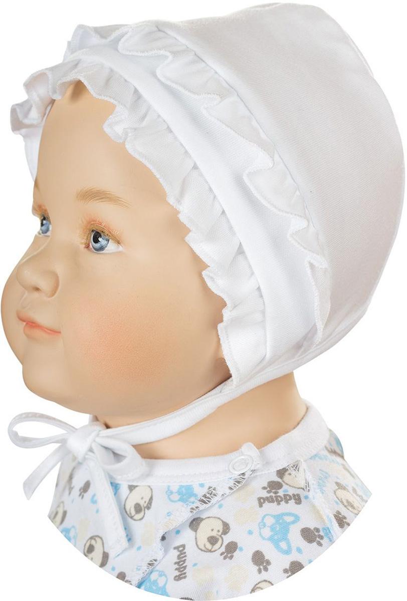 ЧепчикШП32-1Мягкий чепчик для девочки БЕМБІ изготовлен из натурального хлопка. С помощью завязок можно регулировать обхват головы и шеи. Оформлена модель интересными оборками. Уважаемые клиенты! Размер, доступный для заказа, является обхватом головы.