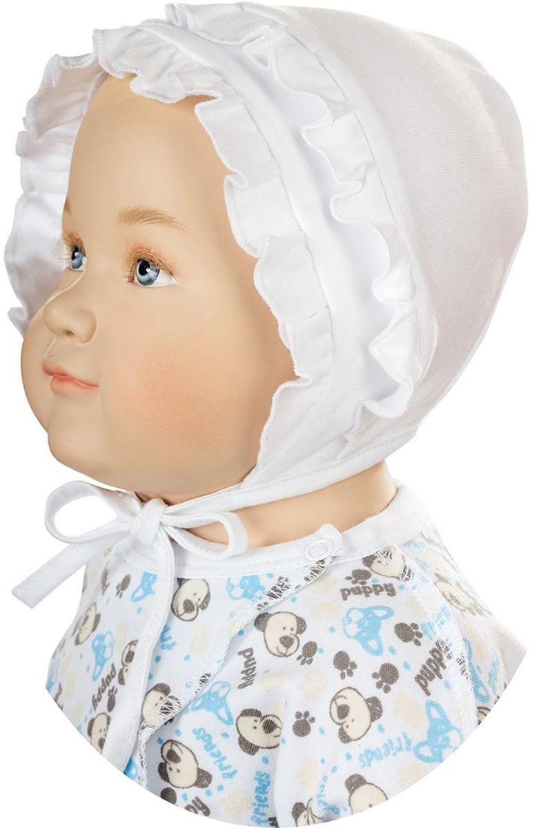 ЧепчикШП32А-1Мягкий чепчик БЕМБІ изготовлен из натурального хлопка. С помощью завязок можно регулировать обхват головы и шеи. Оформлена модель интересными оборками. Уважаемые клиенты! Размер, доступный для заказа, является обхватом головы.