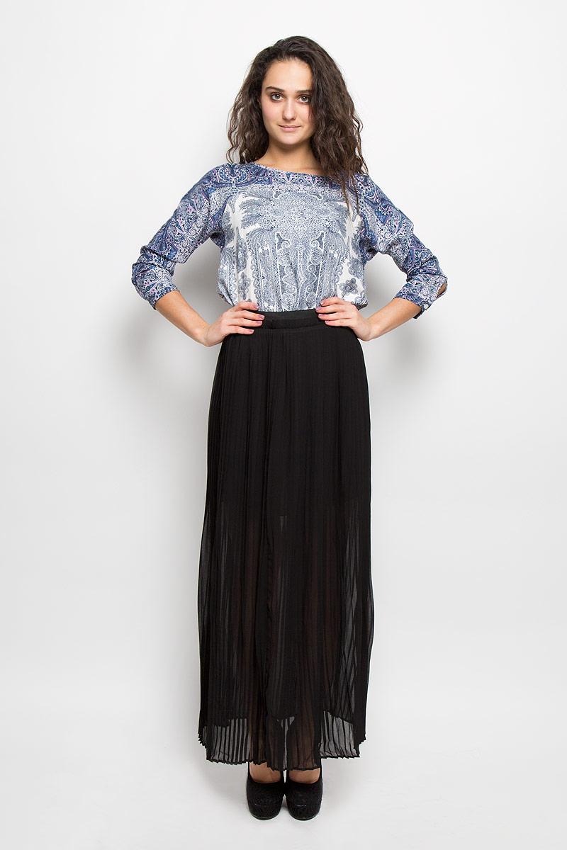 B475024 BLACKМодная юбка-плиссе Baon, изготовленная из полупрозрачного материала с подкладкой, приятная на ощупь, не раздражает кожу и хорошо вентилируется. Модель макси длины на широком поясе с эластичной резинкой. Эффектная юбка позволит вам создать неповторимый женственный образ. В таком наряде вы, безусловно, привлечете восхищенные взгляды окружающих.