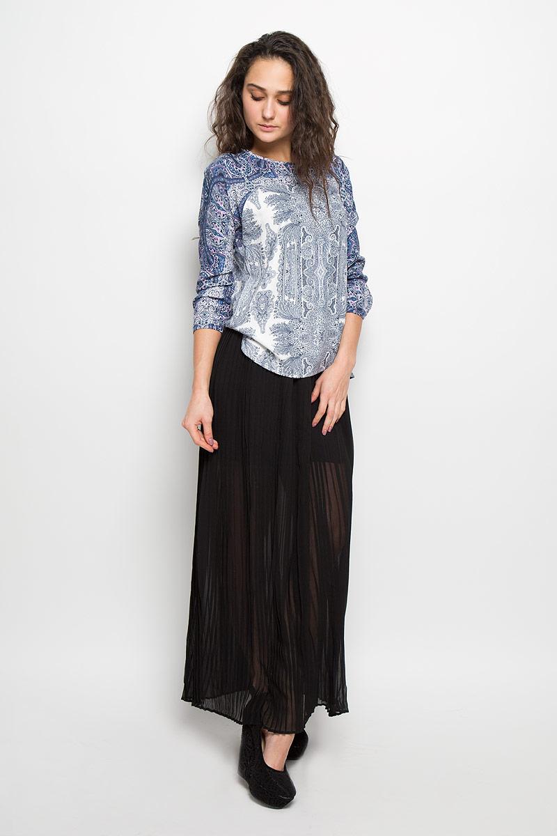 БлузкаB175503Стильная женская блуза Baon, выполненная из 100% вискозы, подчеркнет ваш уникальный стиль и поможет создать оригинальный женственный образ. Блузка свободного кроя с длинными рукавами-кимоно и круглым вырезом горловины оформлена оригинальным контрастным цветочным узором. Блузка застегивается на пуговицу на спинке, манжеты рукавов также дополнены пуговицами. Легкая блуза идеально подойдет для жарких летних дней. Такая блузка будет дарить вам комфорт в течение всего дня и послужит замечательным дополнением к вашему гардеробу.