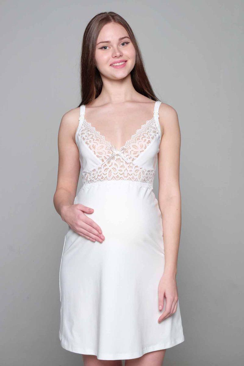 Ночная рубашка1-НМП 18902Красивая сорочка для беременных и кормящих женщин Hunny Mammy изготовлена из высококачественного хлопкового материала с добавлением эластана. Сорочка, отделанная кружевом, дополнена бретелями с клипсами для кормления.