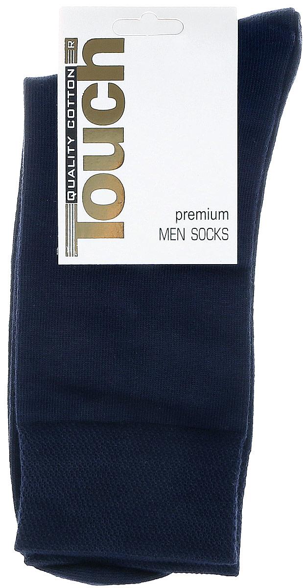 Носки046Стильные мужские носки Touch Gold изготовлены из лучших сортов длинноволокнистого хлопка с добавлением эластановых волокон, которые обеспечивают повышенную износостойкость и превосходную посадку. Модель со стандартным паголенком на широкой эластичной резинки оформлена в лаконичном дизайне.