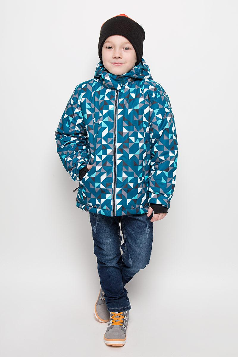Куртка361102Яркая стильная куртка, созданная с учетом всех фишек горнолыжной одежды. Капюшон утягивается стопперами и удобно отстегивается. Внутри уютная флисовая подкладка. Застегивается на молнию с внутренней ветрозащитной планкой. Есть два функциональных кармана на молнии и светоотражатели. Внутри есть специальная вставка на резинке, пристегнув которую вы надежно защитите малыша от снега. Низ утягивается стопперами.