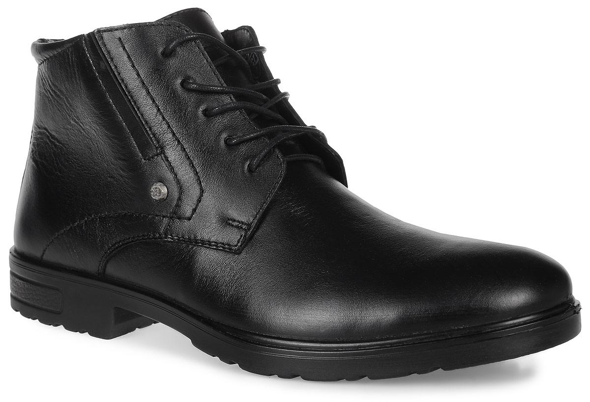 42043Стильные мужские ботинки Classic от Marko выполнены из натуральной кожи. Подкладка и стелька из натурального меха не дадут ногам замерзнуть. Шнуровка надежно зафиксирует модель на ноге. Боковая застежка-молния позволяет легко снимать и надевать модель. Подошва дополнена рифлением.