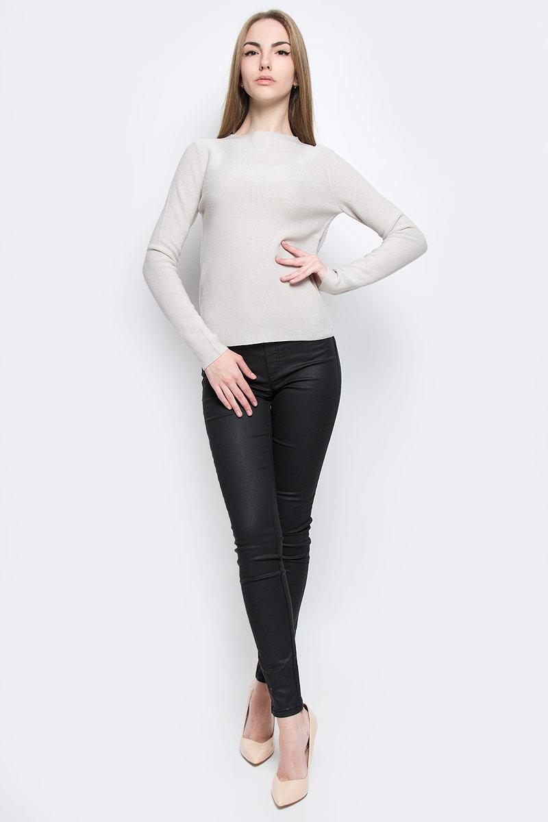 Пуловер625960517/123Женский пуловер Marc OPolo выполнен из высококачественного комбинированного материала. Модель с круглым вырезом горловины и длинными рукавами. Пуловер оформлен фирменной пластиковой нашивкой.