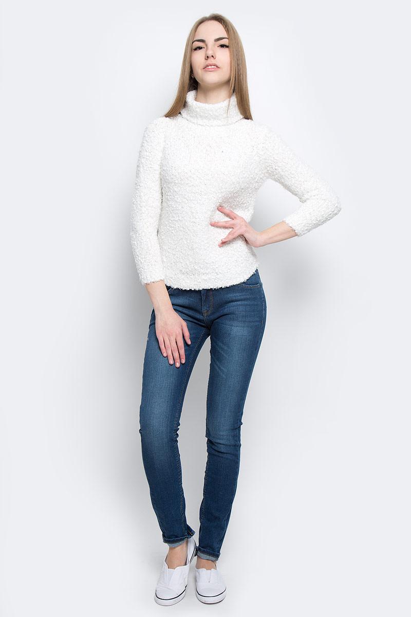 Пуловер10156631_035Модный женский свитер Broadway Skyla, изготовленный из высококачественного полиэстера, мягкий и приятный на ощупь, не сковывает движений и обеспечивает комфорт. Модель с воротником-гольф и длинными стандартными рукавами оформлена оригинальной вязкой.