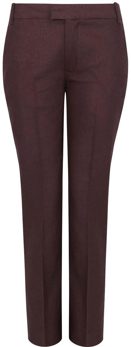 Брюки21701092/16009/3900NСтильные женские брюки oodji выполнены из льна и вискозы, комфортны при движении. Модель со стандартной посадкой оформлена сзади декоративными карманами. Спереди брюки имеют два втачных кармана и застежку-молнию с крючком. Также модель оснащена шлевками.