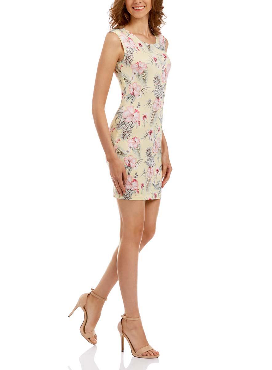 Платье14008014-1/16300/7919FПлатье oodji Ultra без рукавов исполнено из тонкой облегающей ткани. Имеет круглый вырез воротника. Красивую посадку изделию обеспечивают поролоновые плечики.