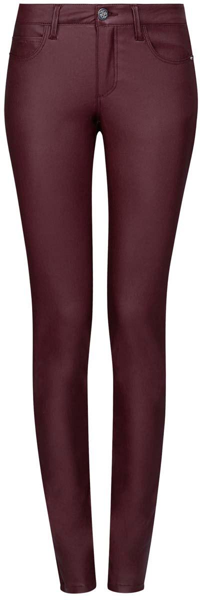 Джинсы12103143/43334/4900NМодные женские джинсы под кожу oodji Denim выполнены из вискозы с добавлением полиамида и эластана, что обеспечивает комфортную посадку и идеальное облегание. Джинсы модели скинни имеют стандартную посадку. Застегиваются на пуговицу в поясе и ширинку на застежке-молнии, имеются шлевки для ремня. Джинсы имеют классический пятикарманный крой: спереди расположены два втачных кармана и один небольшой накладной карман, а сзади - два накладных кармана. Модель выполнена в однотонной расцветке.