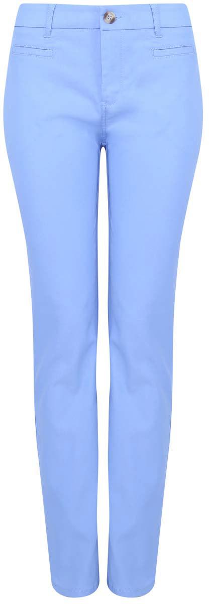 11700195/35669/5900NСтильные женские брюки oodji Ultra выполнены из лиоцелла и полиэстера. Модель со стандартной посадкой застегивается на пуговицу. Имеются шлевки для ремня и ширинка на застежке-молнии. Спереди изделие дополнено двумя втачными карманами и имитацией прорезного кармашка. Сзади - имитация прорезных карманов с декоративными пуговицами.