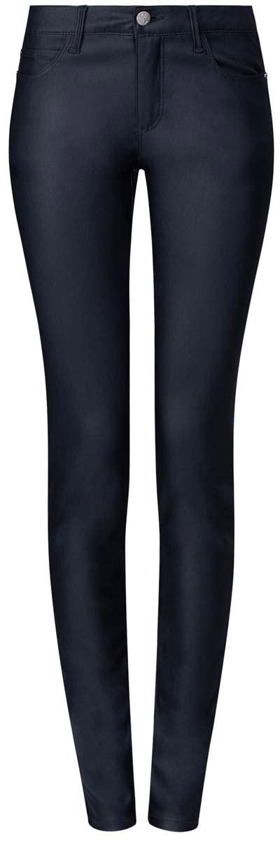12103143/43334/4900NМодные женские джинсы под кожу oodji Denim выполнены из вискозы с добавлением полиамида и эластана, что обеспечивает комфортную посадку и идеальное облегание. Джинсы модели скинни имеют стандартную посадку. Застегиваются на пуговицу в поясе и ширинку на застежке-молнии, имеются шлевки для ремня. Джинсы имеют классический пятикарманный крой: спереди расположены два втачных кармана и один небольшой накладной карман, а сзади - два накладных кармана. Модель выполнена в однотонной расцветке.