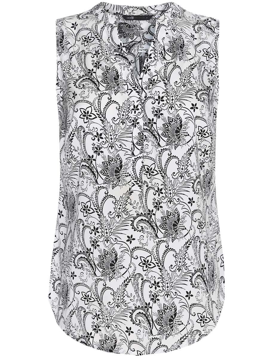 Блузка21400388-3/35542/7912EЖенская блузка oodji Collection выполнена из 100% полиэстера. Модель с V- образным вырезом горловины застегивается на пуговицы. Оформлено изделие принтом в горох.