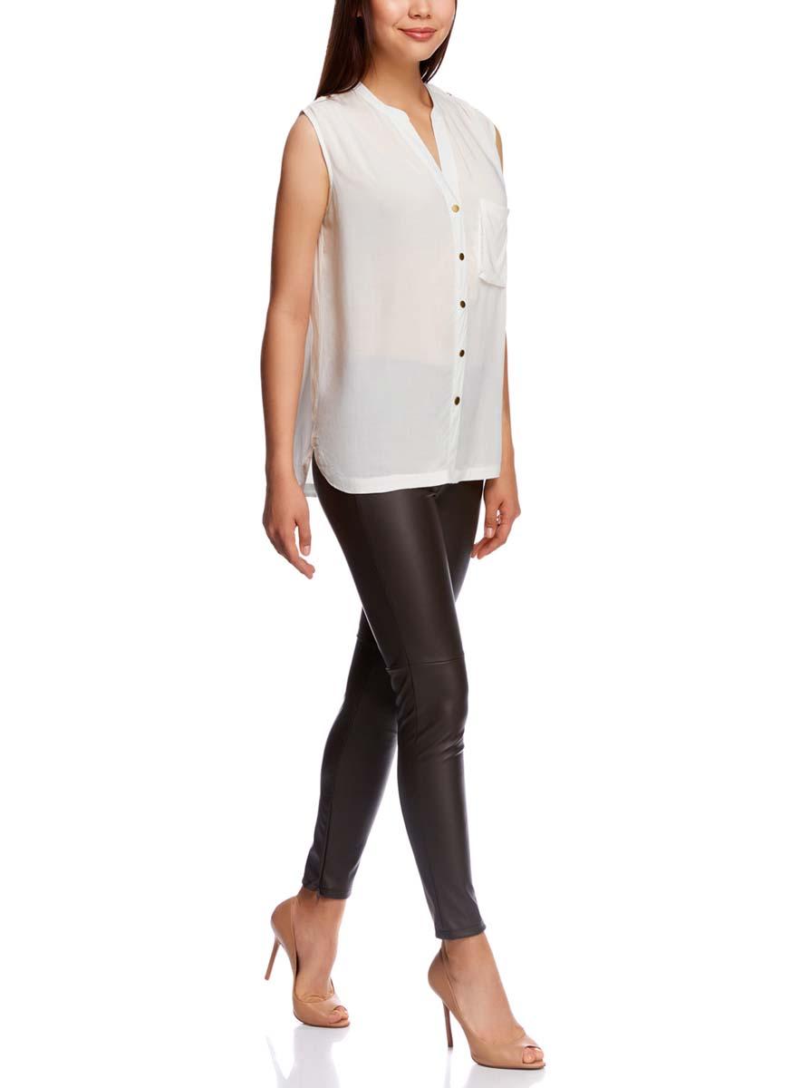 Блузка21412131/35251/1200NБлузка женская oodji Collection выполнена из высококачественного материала. Модель застегивается на пуговицы. Изделие дополнено накладным карманом.