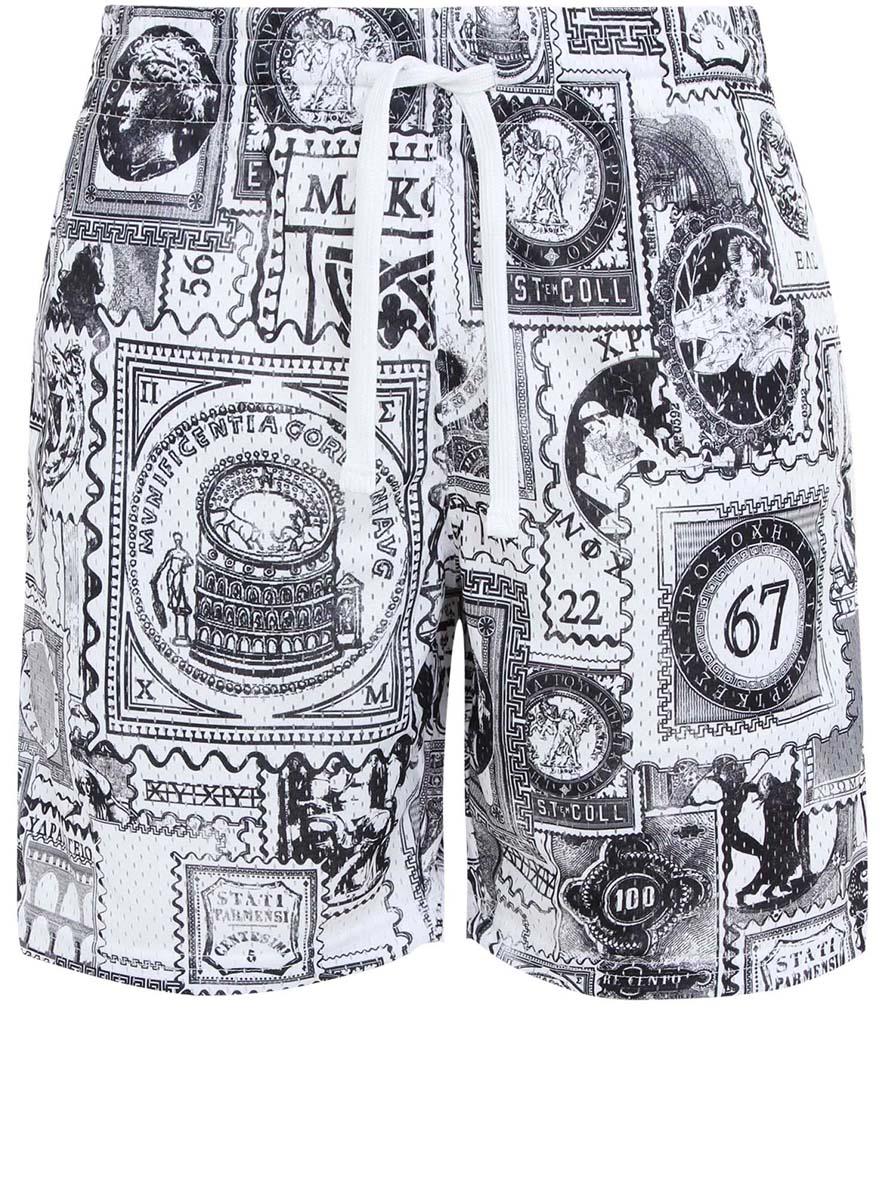 Шорты5L270001Q/39768N/1029OМужские шорты oodji Lab полностью выполнены из полиэстера. Принтованная модель свободного кроя с эластичной резинкой и шнурком на поясе. По бокам шорты дополнены двумя прорезными карманами.