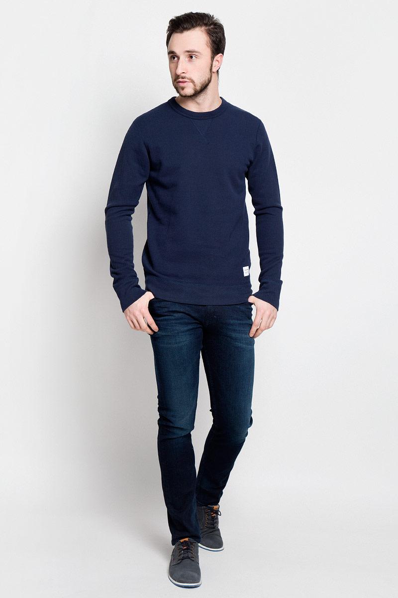 Свитшот10000654467Стильный мужской свитшот Converse Sportswear Crew с длинными рукавами и круглым вырезом горловины. Свитшот изготовлен из натурального хлопка. Горловина, манжеты рукавов и низ модели дополнены трикотажными резинками. Внутренняя сторона изделия выполнена небольшими петельками.