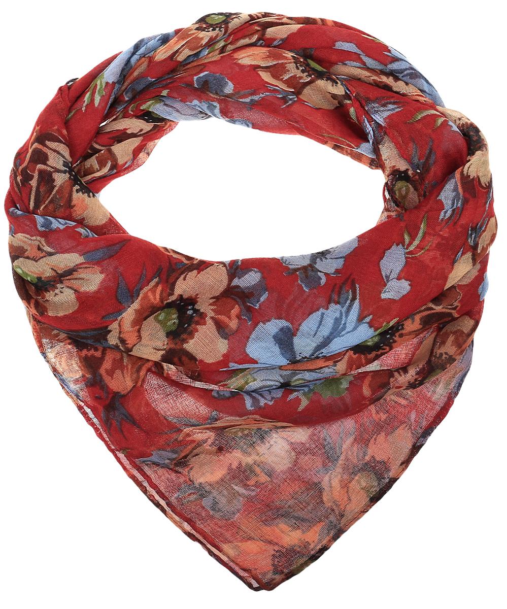 RoFC428-1/7-5Стильный женский платок Vita Pelle изготовлен из высококачественного хлопка с добавлением полиэстера и модала. Платок оформлен крупным цветочным принтом. Край отделан швом американка.