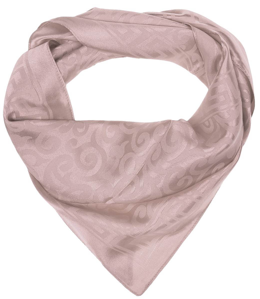 ПлатокRoFC692/1-1Стильный женский платок Vita Pelle изготовлен из высококачественного полиэстера с добавлением шелка. Платок оформлен оригинальным переливающимся узором. Край отделан швом американка.