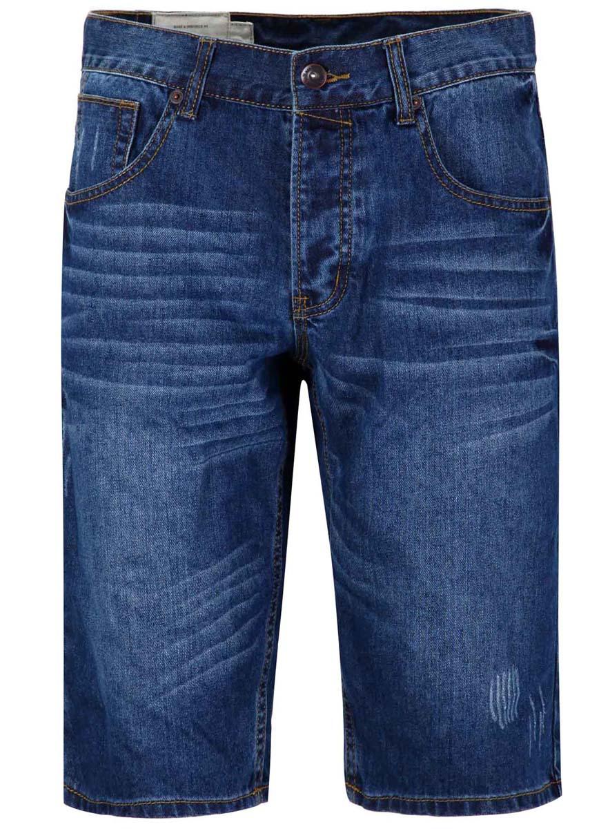 6B220003M/34352N/7500WСтильные джинсовые шорты oodji изготовлены из высококачественного материала (100% хлопка). Модель застегивается на пуговицу в поясе и три скрытые пуговицы, имеются шлевки для ремня. Спереди модель дополнена двумя втачными карманами и одним небольшим накладным кармашком, а сзади - двумя накладными карманами. Модель оформлена эффектом потертости.