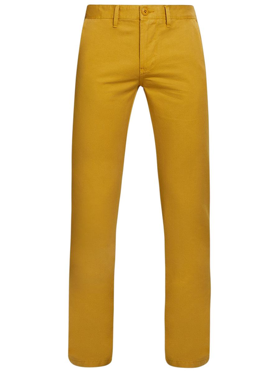 2B150007M/39138N/7800WМужские брюки oodji Basic выполнены из натурального хлопка. Модель застегивается на пуговицу в поясе и ширинку на молнии. Имеются шлевки для ремня. Спереди расположены два втачных кармана и прорезной кармашек, сзади - два прорезных кармана на пуговицах.