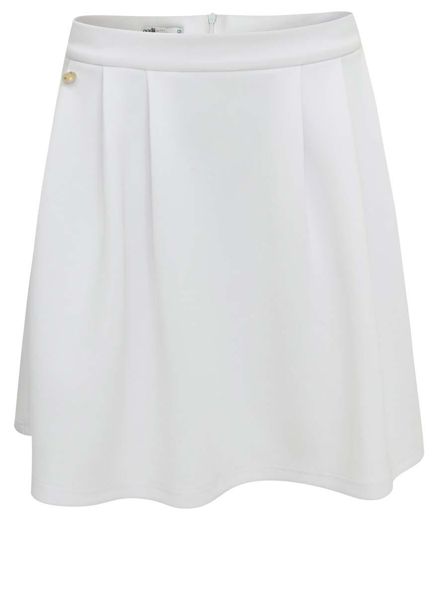 14103023M/33038/1000NСтильная юбка А-силуэта oodji Ultra выполнена из полиэстера с добавлением эластана. Юбка застегивается сзади на застежку-молнию. С лицевой стороны расположены два прорезных кармана.
