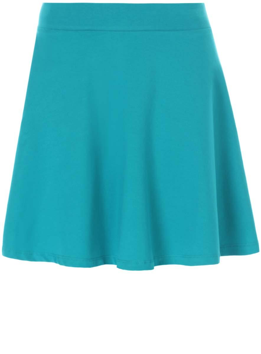 Юбка14102002/45450/7500NЮбка oodji Ultra выполнена из натурального хлопка с добавлением эластана. Модель-мини в поясе имеет широкую эластичную резинку. Оформлена юбка в лаконичном дизайне.