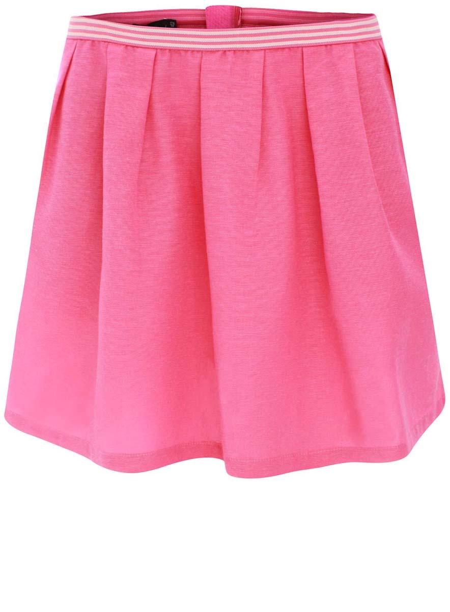11605062/35679/4D00NПышная юбка oodji Ultra изготовлена из хлопка и вискозы. Модель застегивается на молнию, талия дополнена резинкой. По бокам имеются два врезных кармана.