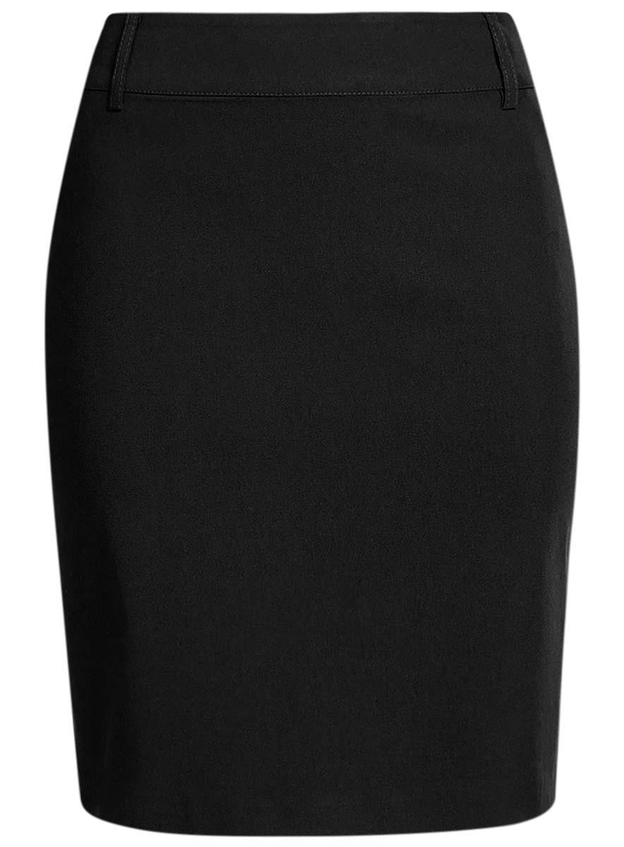 Юбка11610003B/14007/2900NПрямая юбка oodji Ultra длины миди выполнена из эластичной ткани. Модель со стандартной талией. Боковая сторона застегивается на потайную застежку-молнию. Спереди изделие оформлено имитацией карманов. Широкий пояс дополнен шлевками.