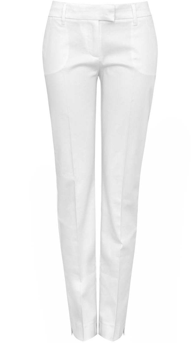 Брюки21704159-1/14473/1000NСтильные женские брюки oodji выполнены из хлопка и эластана, комфортных при движении. Модель с стандартной посадкой оформлена сзади вшитыми открытыми карманами. Спереди брюки имеют два открытых накладных кармана и гульфик на молнии с застежкой-крючком. Также модель оснащена шлевками. Низ брюк оформлен разрезами.