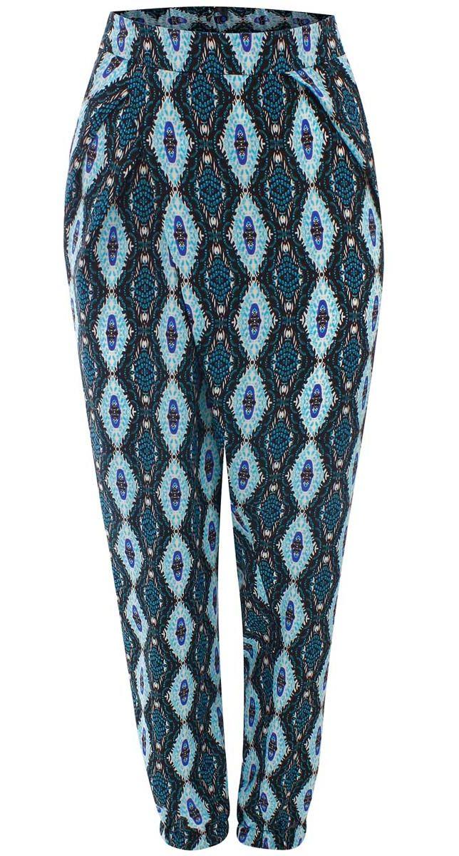 11700196/19777/2973EЛегкие женские брюки oodji выполнены из 100% полиэстера. Модель свободного кроя со средней посадкой, низ брючин заужен и дополнен резинками. Спереди изделие дополнено втачными карманами.