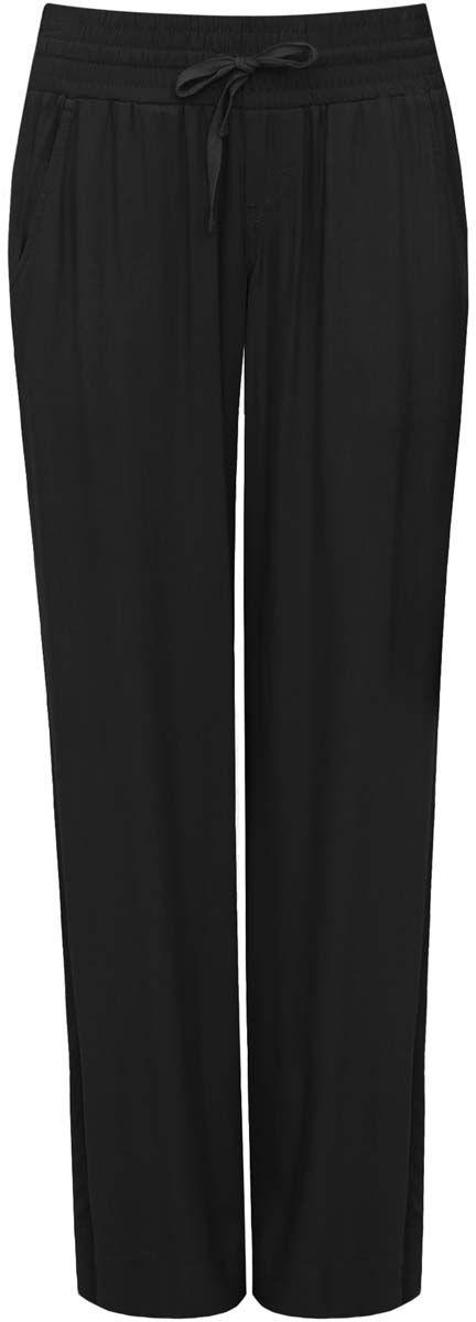 Брюки11701017-5/19891/2900NСтильные женские брюки oodji Ultra выполнены из качественной вискозы. Модель со средней посадкой в поясе изготовлена на широкой резинке и дополнена шнурком-завязкой. По бокам изделие дополнено втачными карманами.