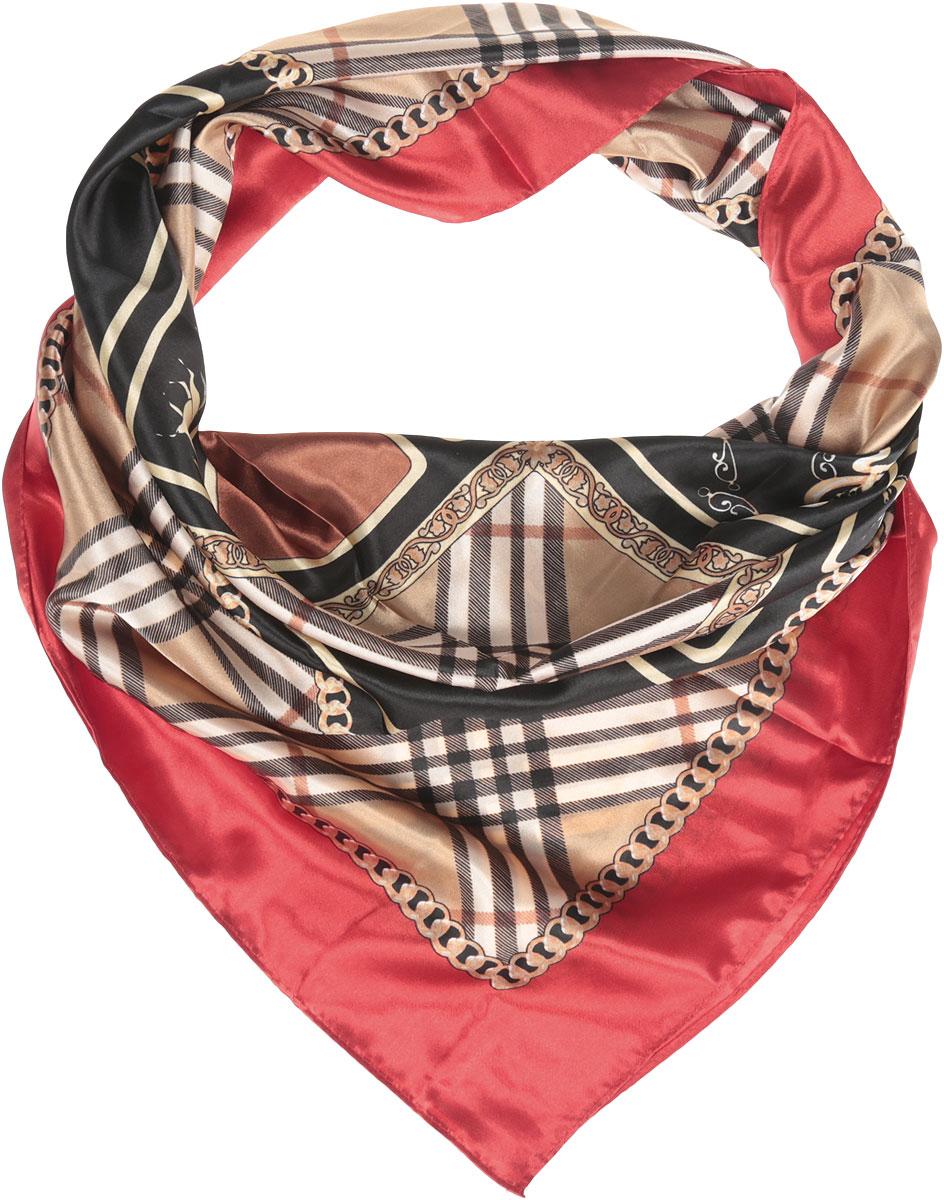 Ro68/15-1Стильный женский платок Vittorio Richi изготовлен из высококачественного полиэстера с добавлением шелка. Платок оформлен оригинальным крупным принтом. Край отделан швом американка.