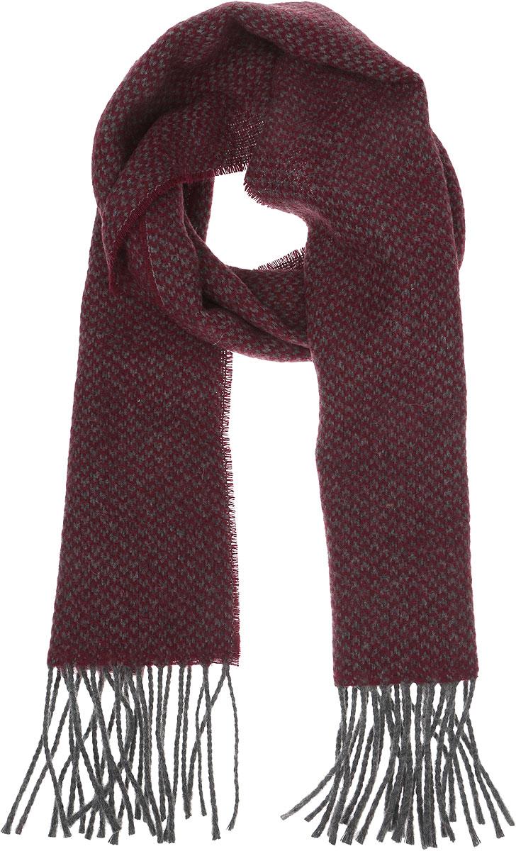 5000156-4Стильный теплый мужской шарф Venera изготовлен из очень мягкого и тактильно приятного материала. По краям изделие декорировано кисточками.