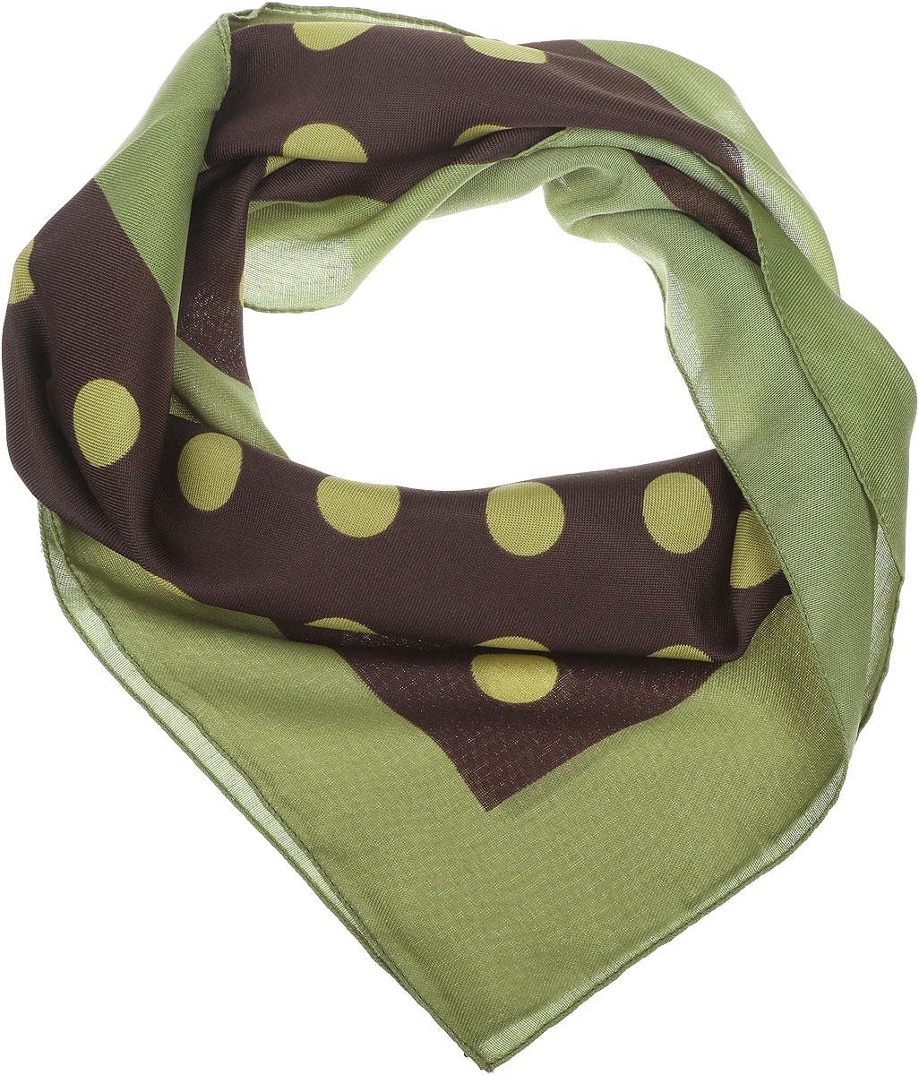 Платок2900272-1Женский платок Venera выполнен из полиэстера. Изделие оформлено принтом в горох. Классическая квадратная форма позволяет носить платок на шее, украшать им прическу или декорировать сумочку.