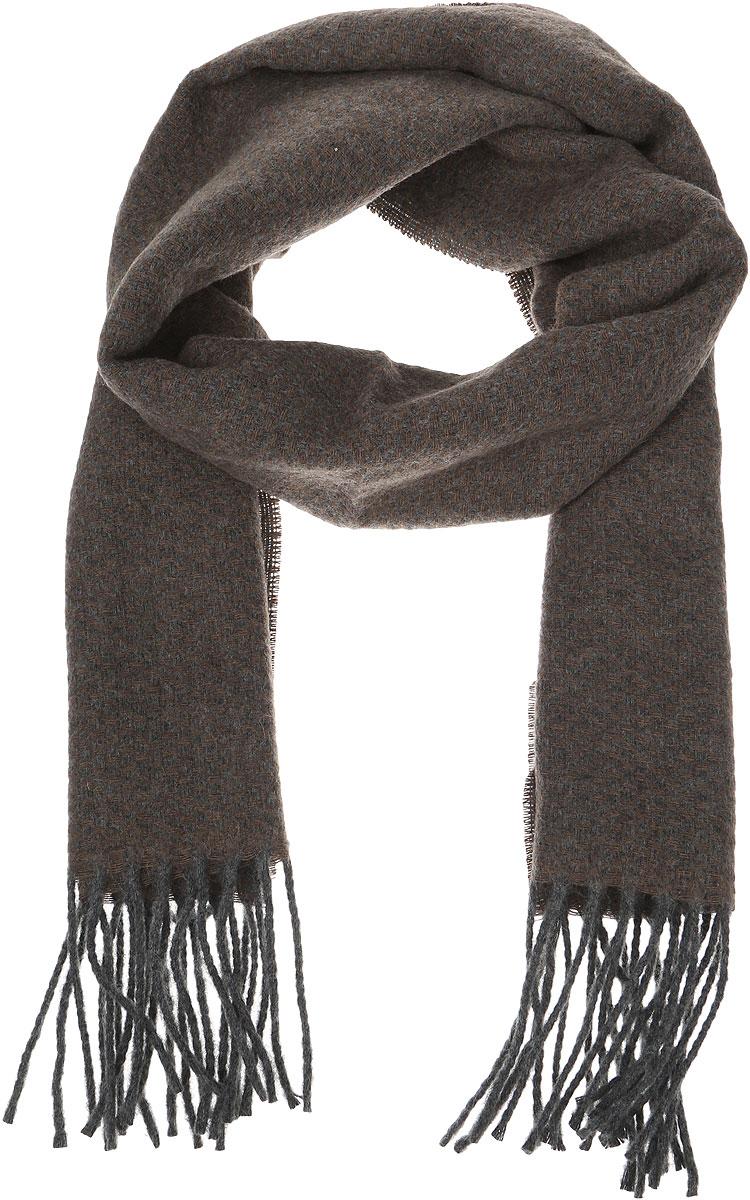 Шарф5000156-4Стильный теплый мужской шарф Venera изготовлен из очень мягкого и тактильно приятного материала. По краям изделие декорировано кисточками.