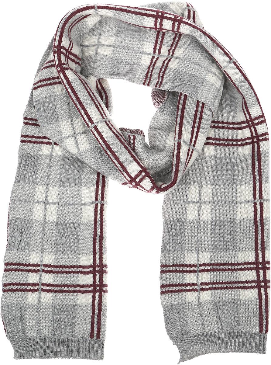 Шарф6400137-120Стильный мужской шарф Venera полностью выполнен из натуральной шерсти. Модель оформлена принтом в клетку и дополнена резинками на краях.
