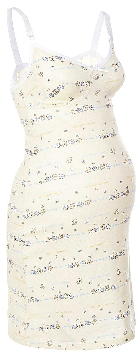 Ночная рубашка24124Удобная, красивая ночная сорочка для беременных и кормящих мам Мамин Дом, изготовленная из натурального хлопка, женственна и элегантна. Модель на тонких бретелях оформлена очаровательным принтом с изображением веселых собачек, и украшена контрастной отделкой по верхнему краю чашек. Бретельки регулируются по длине. Чашки легко отстегиваются благодаря пластиковым замочкам-клипсам, что позволяет в любой момент быстро и легко покормить малыша. Свободный крой позволяет носить ночную сорочку как во время беременности, так и после родов. Такая сорочка сделает отдых будущей мамы комфортным. В комплект входят антицарапки для малыша и слюнявчик на завязках. Одежда, изготовленная из хлопка, приятна к телу, сохраняет тепло в холодное время года и дарит прохладу в теплое, позволяет коже дышать.