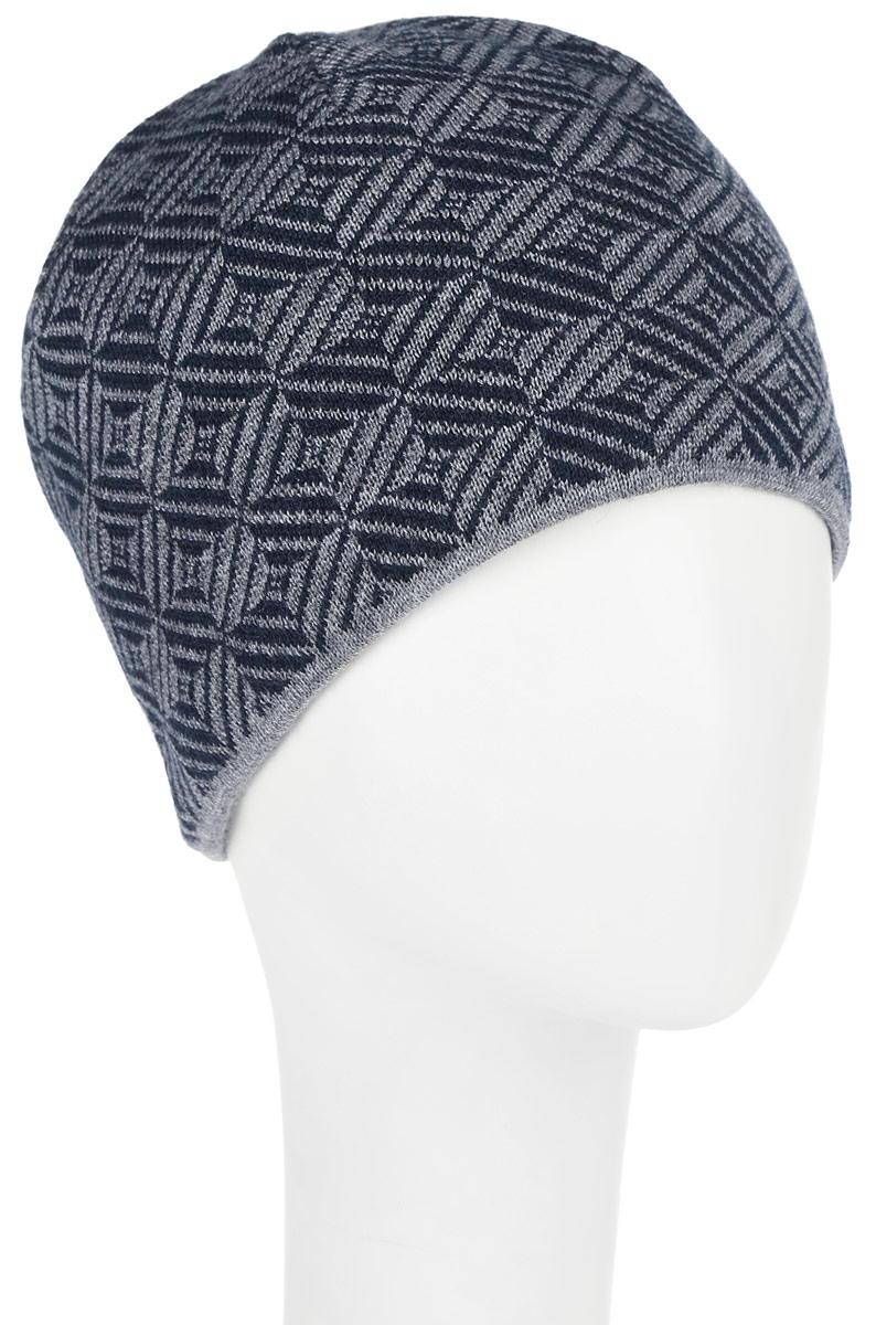 Шапка5-017Мужская шапка Leighton изготовлена из шерсти и акрила, подкладка - из флиса. Уважаемые клиенты! Размер, доступный для заказа, является обхватом головы.